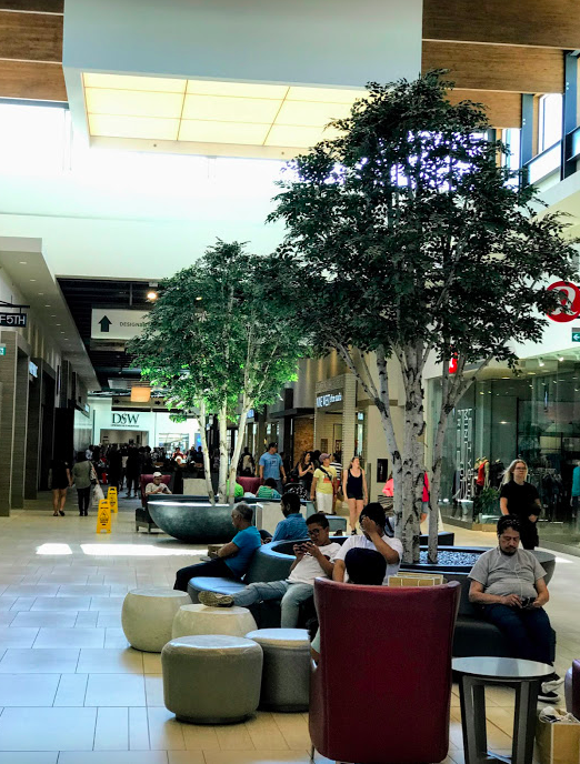 In the early 21st century, the shopping mall became a second living room with soft seating that often exceeds anything we have at home.
