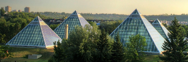 Muttart Conservatory is one of Edmonton's architectural gems.
