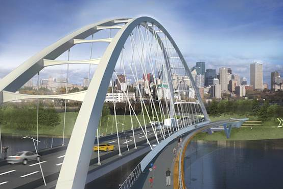 Edmonton's new Waterdale Bridge.