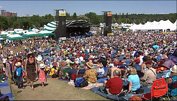 Edmonton Folk Festival in Gallagher Park (photo credit: CTV News)