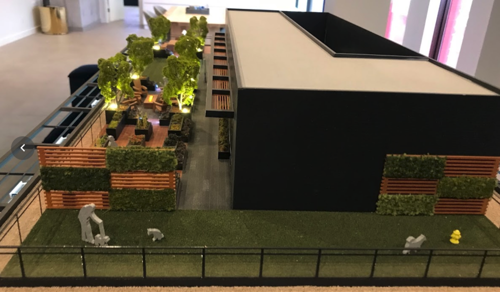 The Annex's model shows a roof-top dog run, I am thinking this is a first in Calgary.