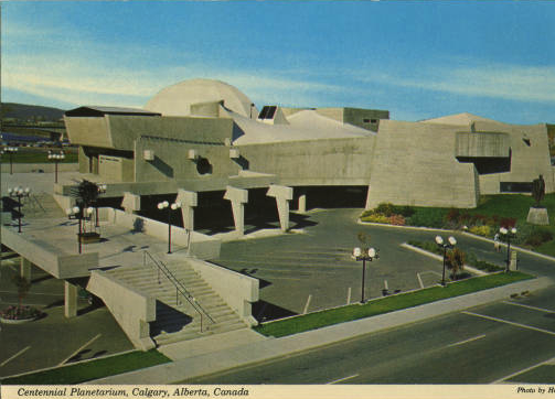 "Architect Jack Long's 1961, Calgary Planetarium and Science Center was a classic example of  ""Brutalist"" architecture."