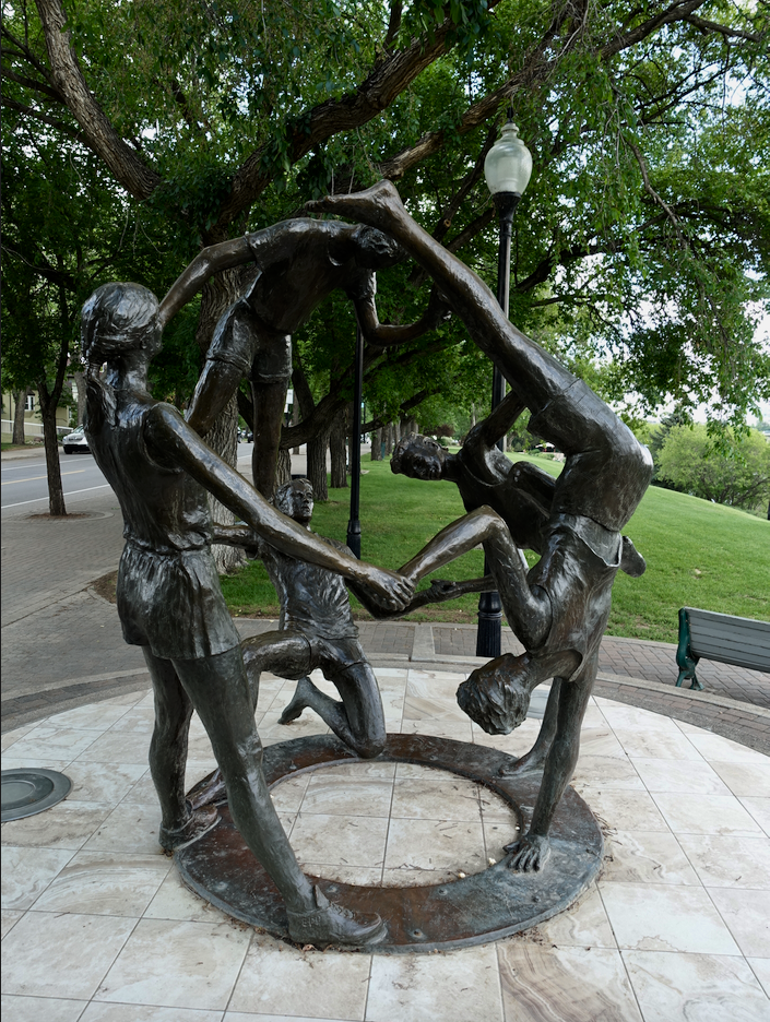 "Bill Epp's 1989 artwork title ""Tribute to Youth"" which Morris references reflects the Saskatoon's sense of play and togetherness."