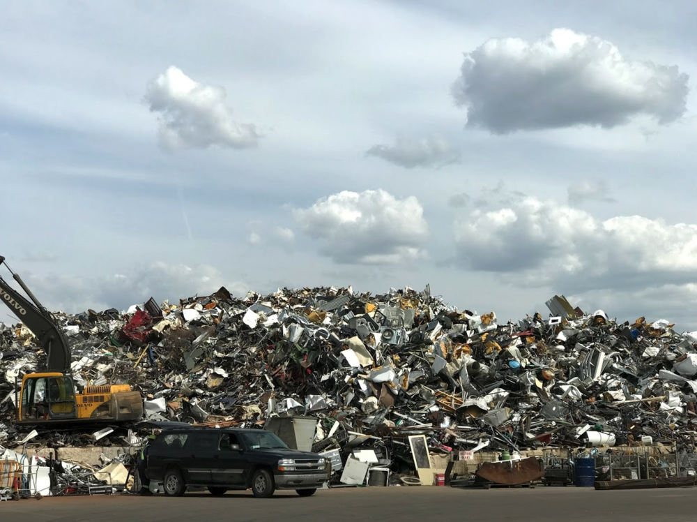 This is the scrap yard where you can hunt for buried treasures.