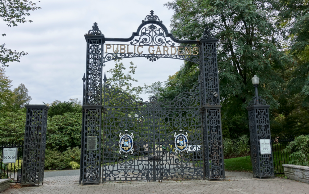 The ornamental entrance to the Halifax Public Gardens was exquisite.