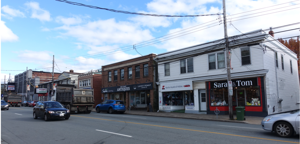 "Halifax's Quinpool Road is an eclectic mix of old and new ""mom and pop"" shops."