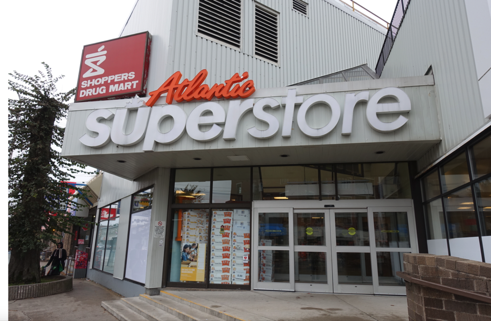 In addition to the Atlantic Superstore, Quinpool has several ethnic grocery stores and a major health food store.
