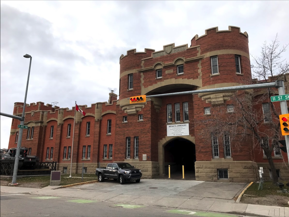 Mewata Armoury was completed in 1918 and is still used by several Arm Forces groups. It would make a great weekend farmers' market.