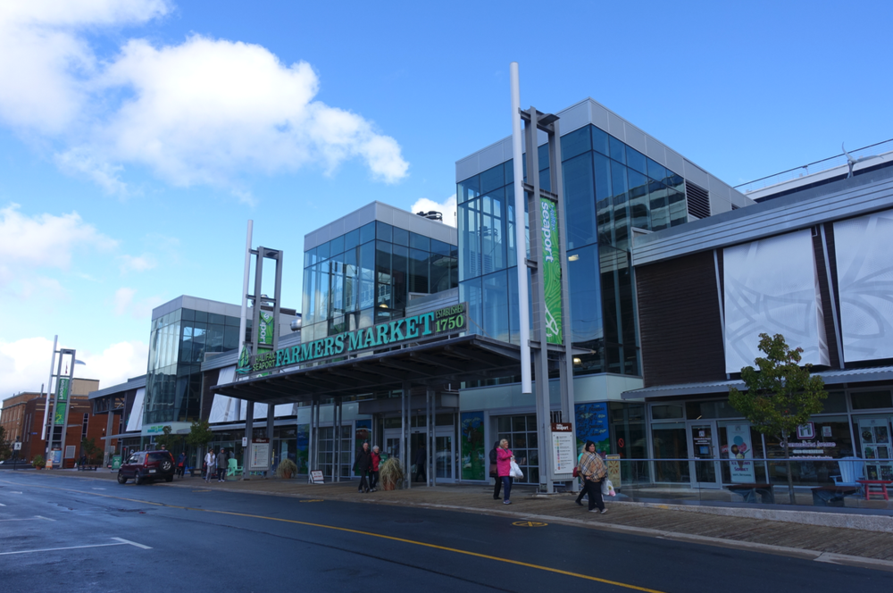 Halifax's Farmer's Market is part of a huge urban renewal project that includes their Science Centre, Nova Scotia School of Art & Design, Pier 21 and Cruise Ship docks. It is the equivalent of Calgary's East Village redevelopment.
