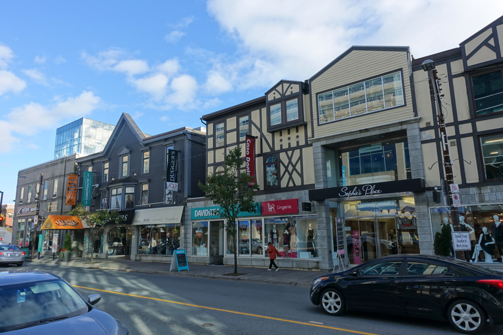 Spring Garden Road has a lovely mix of shops and architecture.
