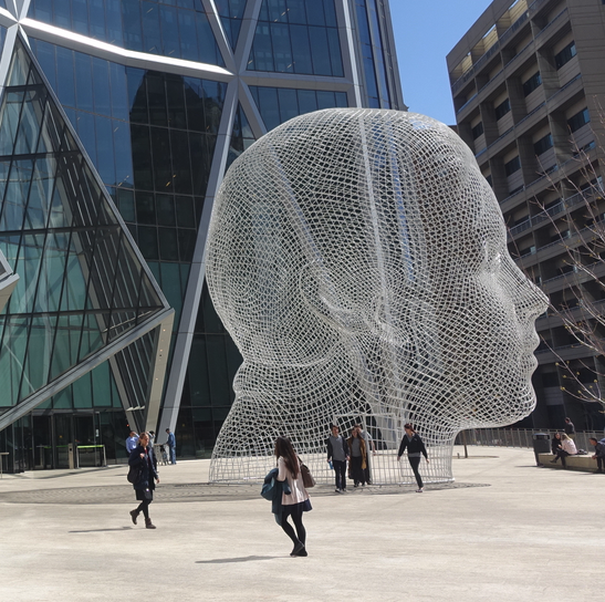 Yes, Calgary has a major Jaume Plensa sculpture….