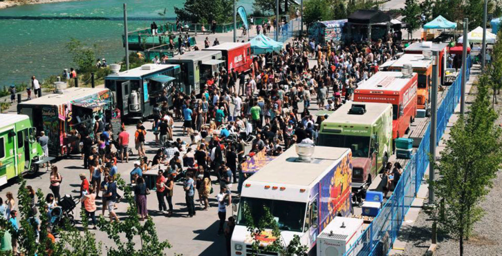 Food Trucks on East Village's Riverwalk.