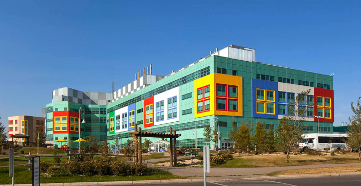 How about the Alberta Children's Hospital that looks like the kids built it out of Legos?