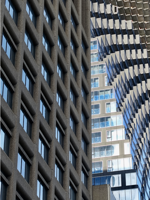 Downtown Calgary's architecture is full of intriguing patterns, textures and juxtaposition. Remember to always look up!
