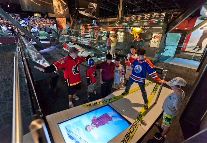 Kids love Canada's Sports Hall of Fame with its hands-on activities.