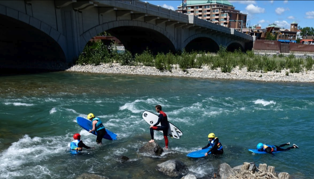 For some people surfing the Bow River Wave is recreational.