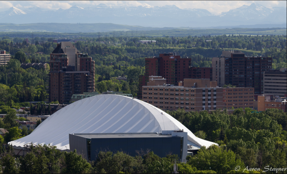 Calgary has been building iconic recreation centres since the early '80s. This is the Repsol Sports Centre built in 1983 for the Western Canada Summer Games.