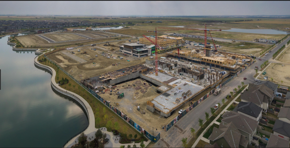 Construction view of Westman Village. (photo Jayman website)