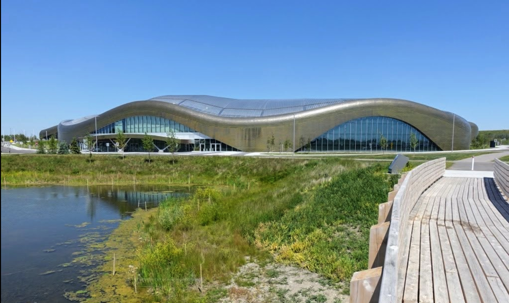 Some of Calgary most contemporary architecture is its recreation centres, like Shane Homes at Rocky Ridge YMCA.