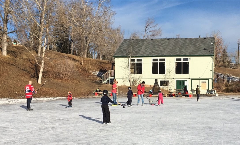 Caglary still has hundreds of outdoor community rinks like this one.
