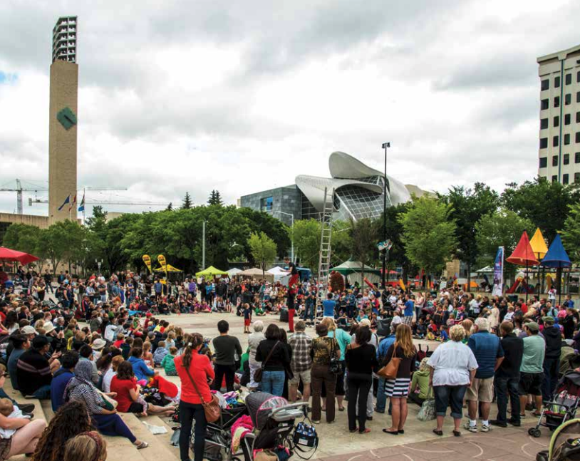 Edmonton's Churchill Square has been a popular festival and gathering place for decades.
