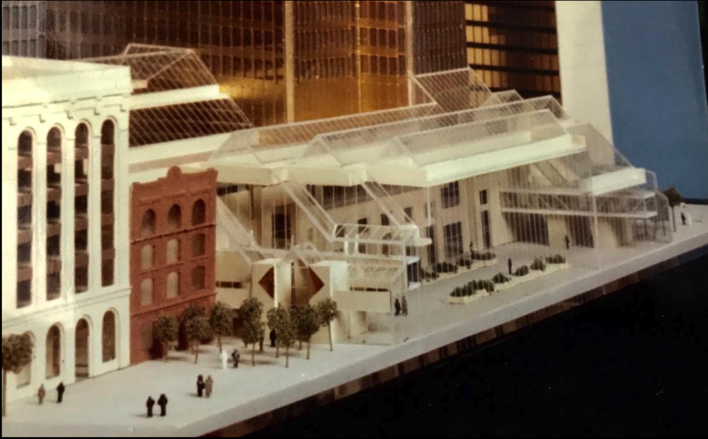 Original plans for Stephen Avenue called for two +15 bridges, one to Dome and one to Home towers on the other side of the street.