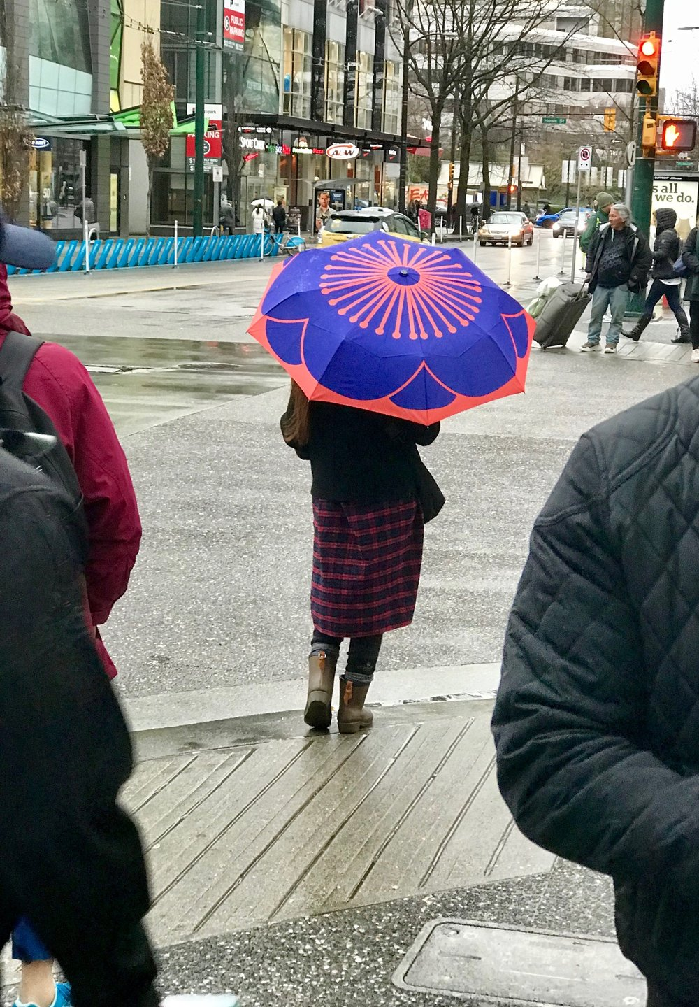 While most of the umbrellas in Vancouver are black and boring, this one made me smile.