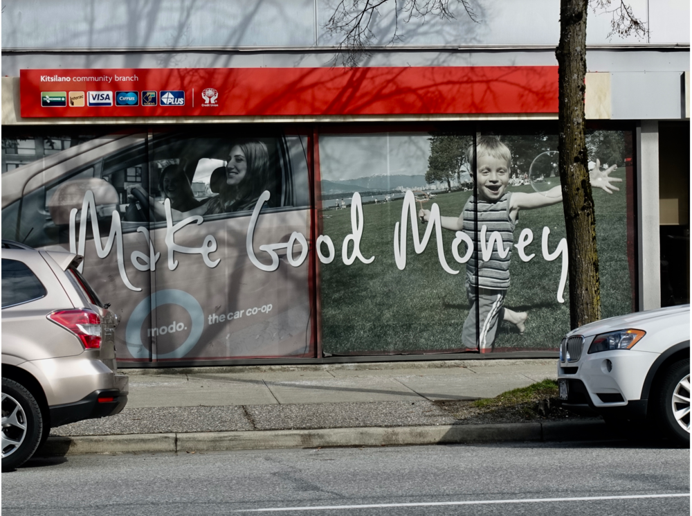 This VanCity bank window made me smile…