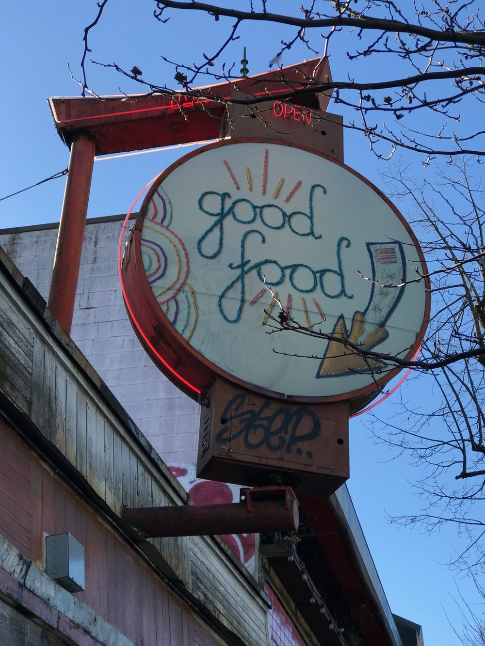 There are lots of good food places…