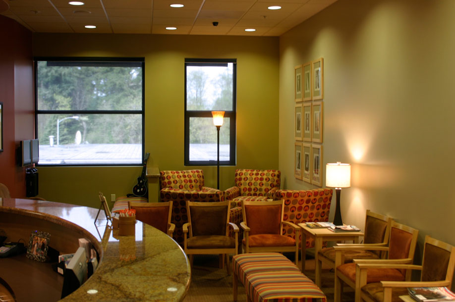 Our bright and comfortable Reception Area offers plenty of space to relax while your family member is being treated.