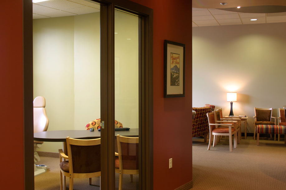 Just off the reception Area is our Exam Room where patients and their families learn about treatment recommendations and options.