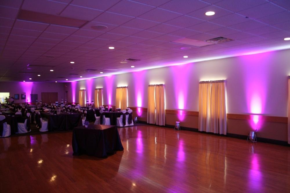 Elegant room event lighting dj4u peoria dj service room lighting Knights of columbus swimming pool springfield il