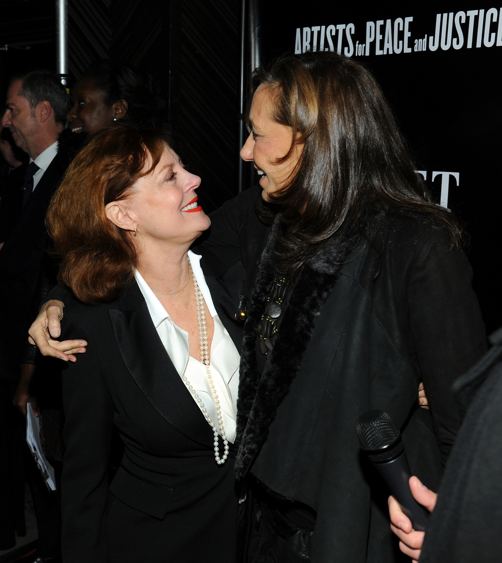 SUSAN SARANDON AND DONNA KARAN