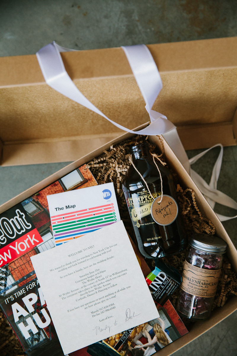NYC-THEMED WELCOME GIFT FOR GUESTS