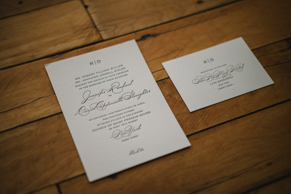 INVITATION ON NOMAD'S WOODEN FLOOR