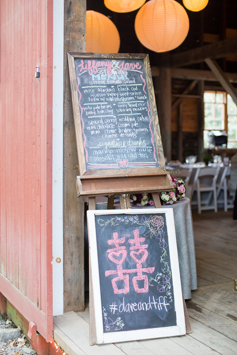 CHALKBOARD MENU AND DOUBLE HAPPINESS