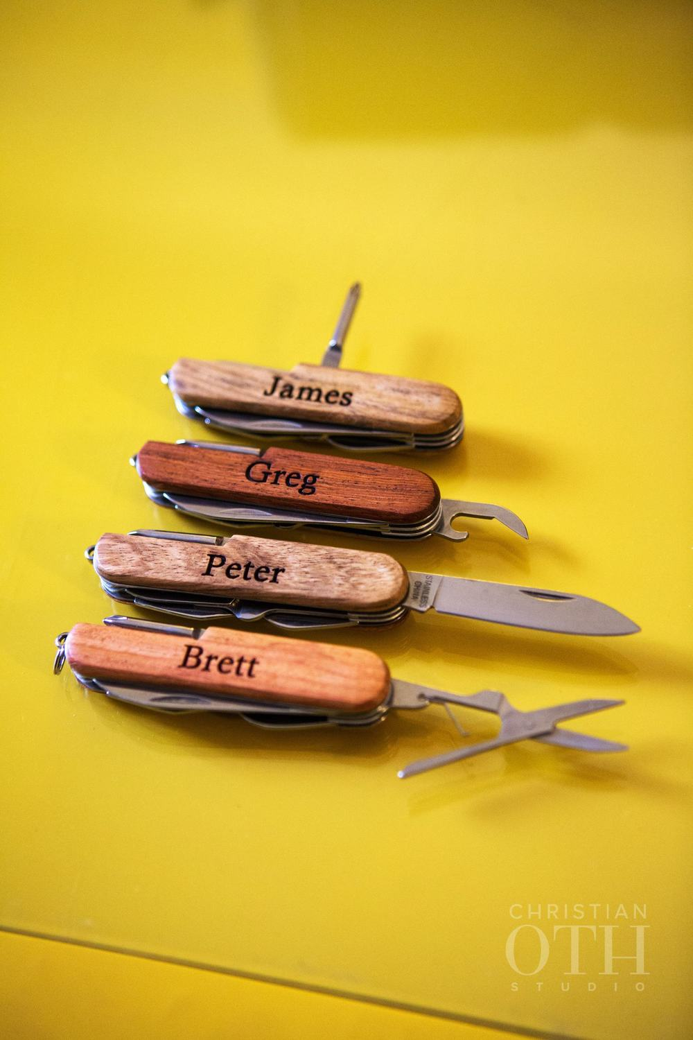 PERSONALIZED WOODEN SWISS ARMY KNIVES