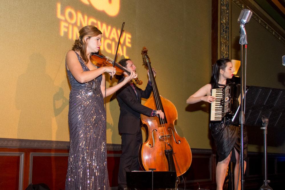 Trio performing