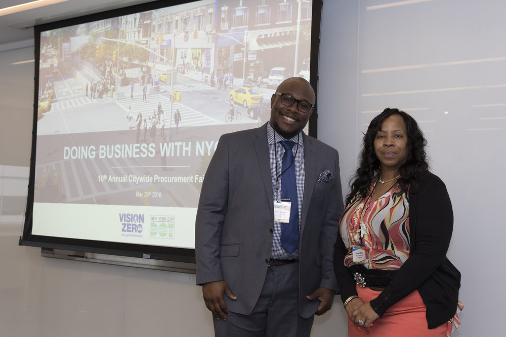 Carlos Bannister and Rhonda Bruton from NYC Department of Transportation
