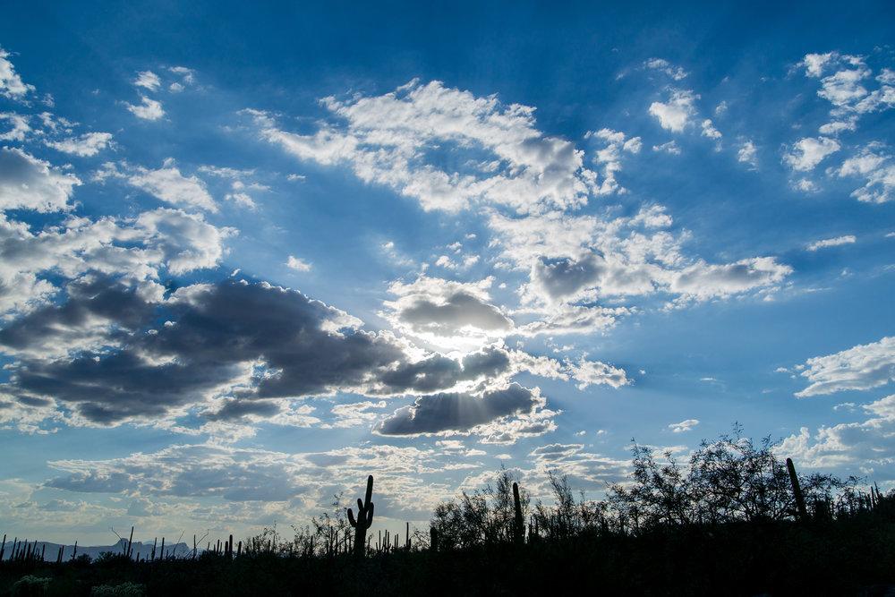 The skies of arizona