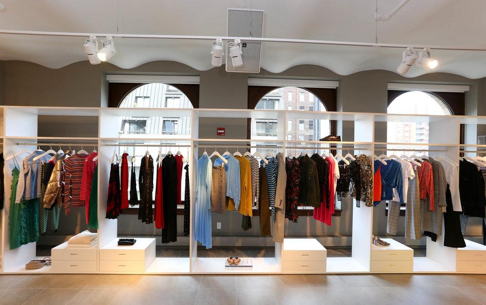 Vibrant display at H&M showroom