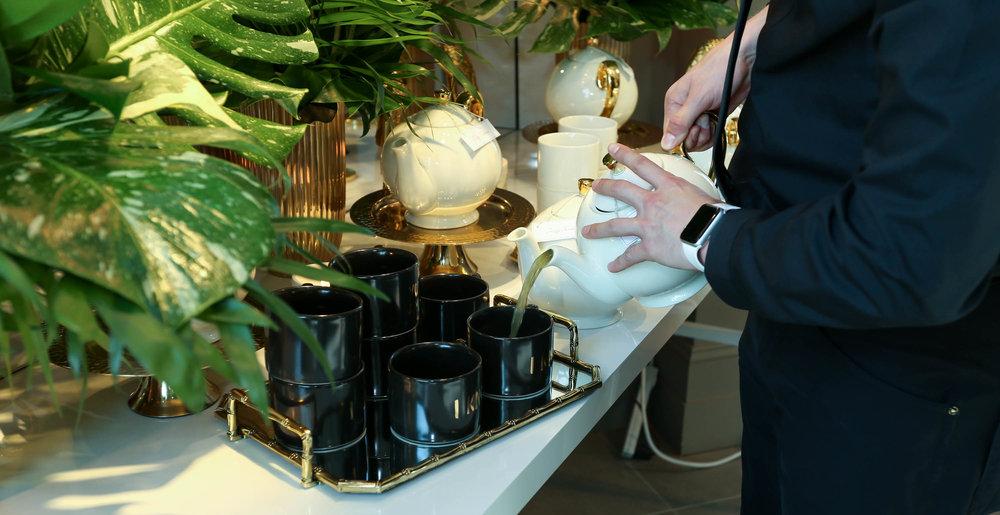 Kombucha prep with all H&M drinkware