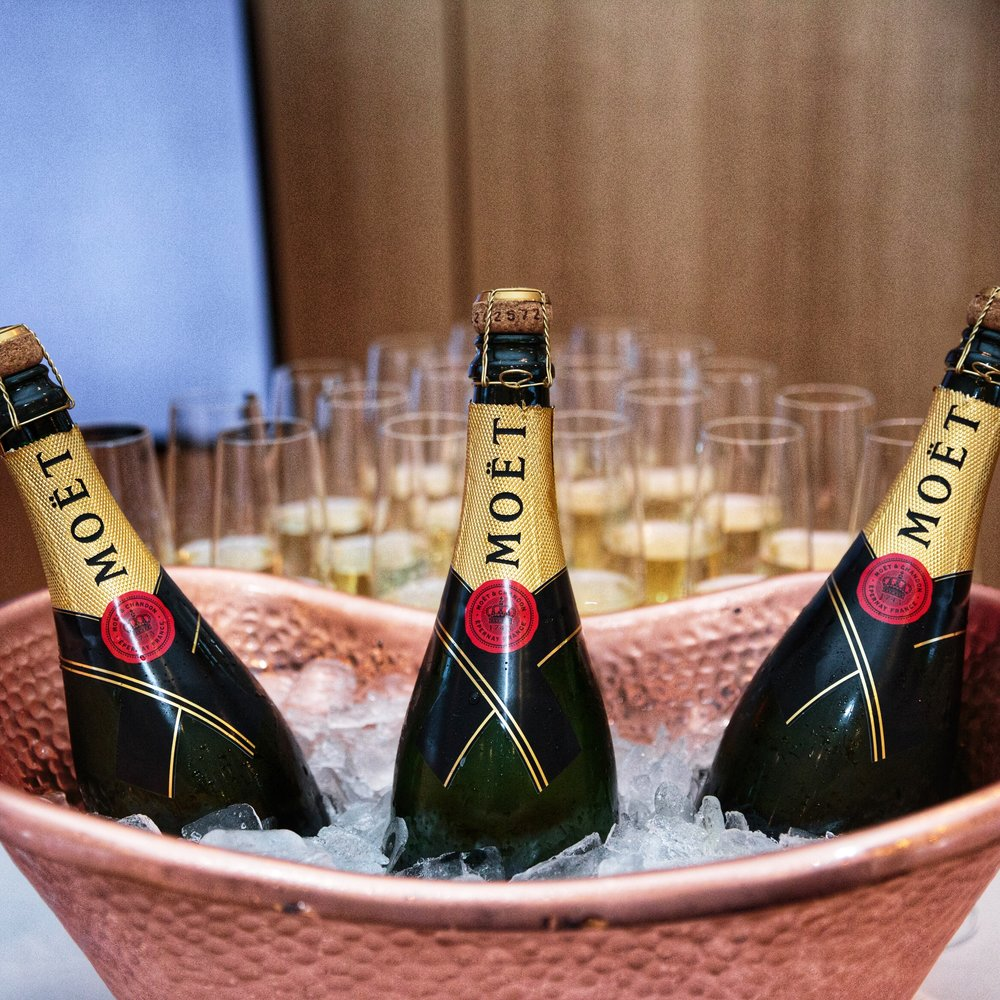 Möet Champagne set for celebratory toast