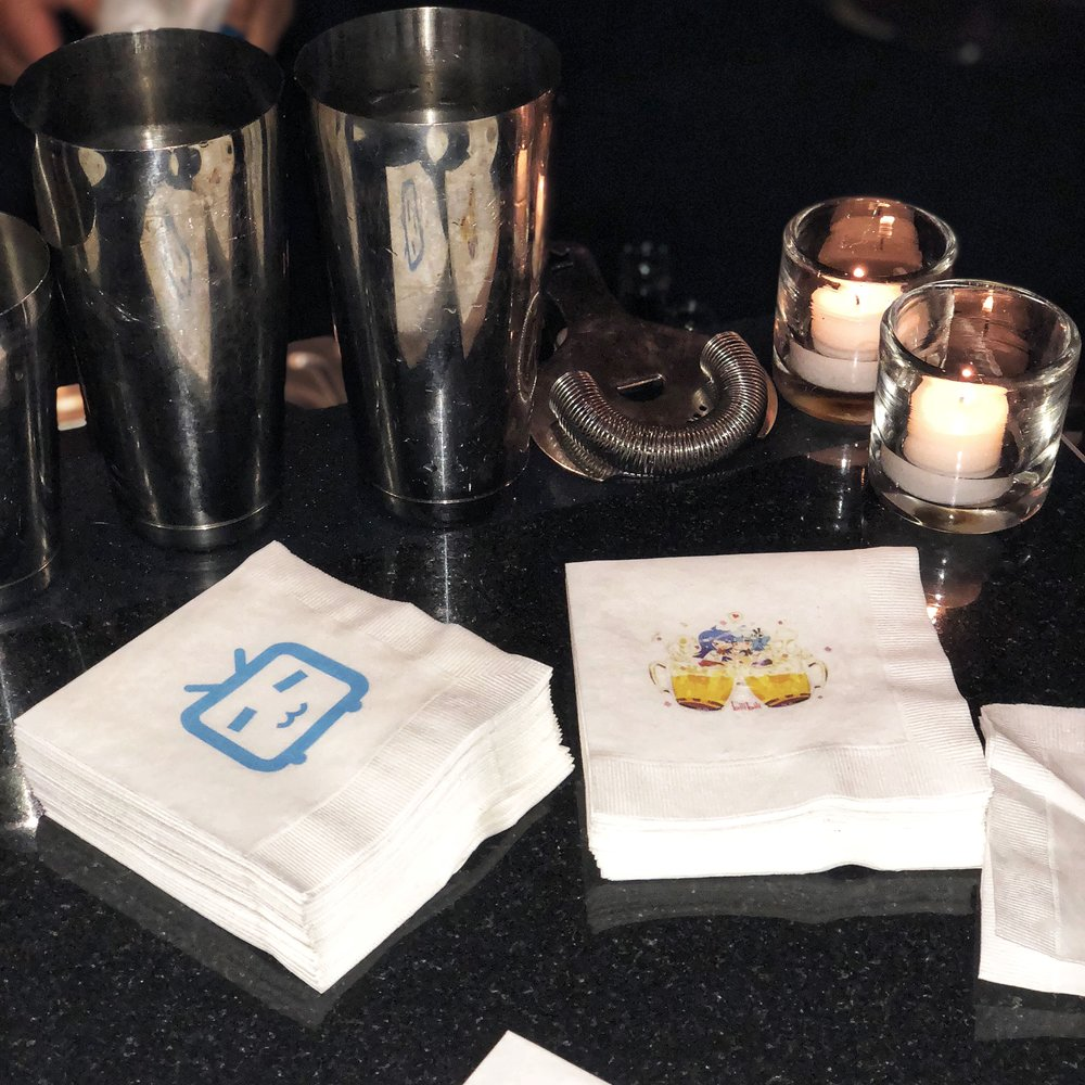 Branded Napkins for Cocktail Hour