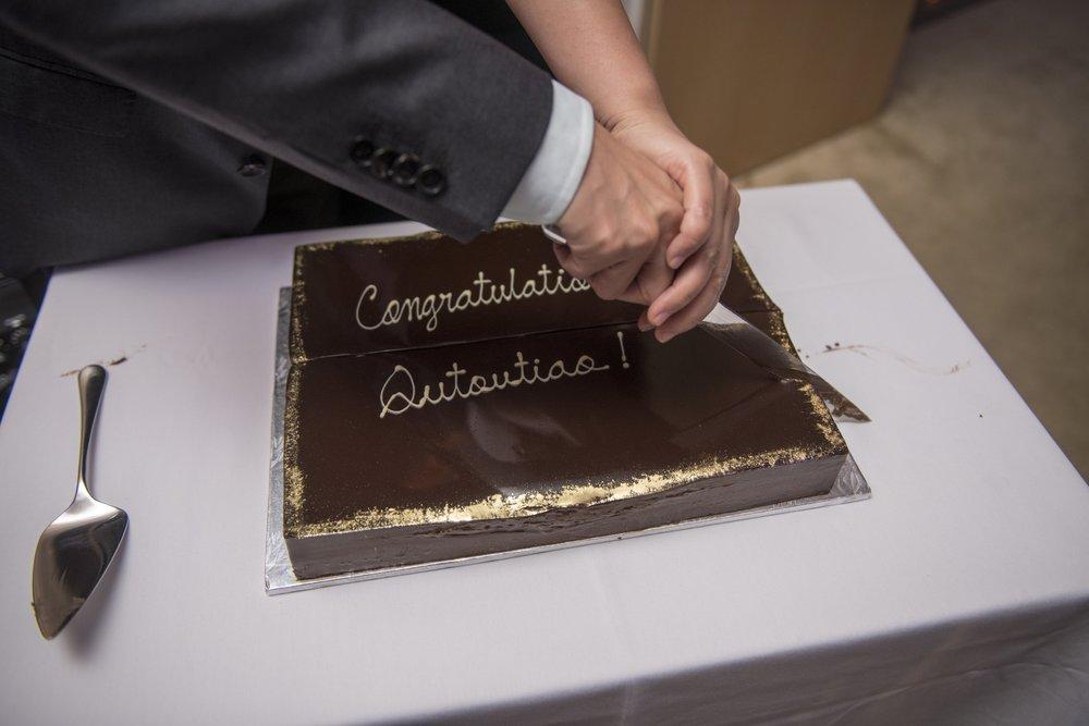 Celebratory Cake cutting
