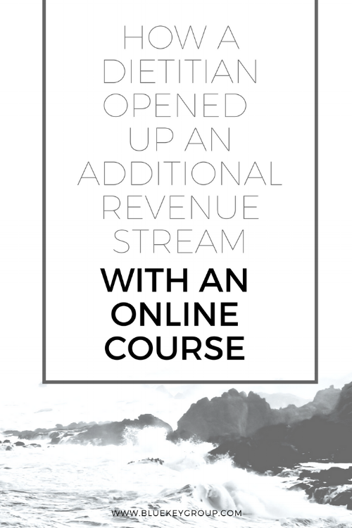 Esther Hansen, additional revenue stream, dietitian nutritionist, build and launch an online course