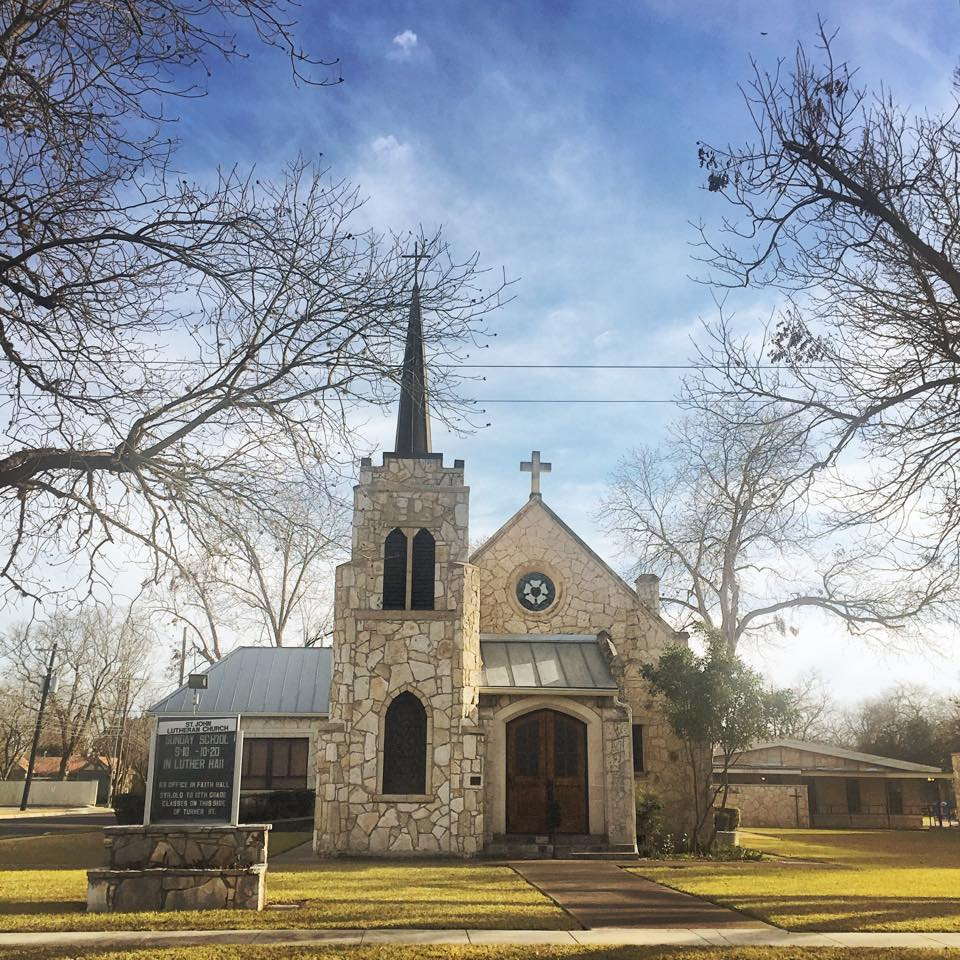 Our physical location is 210 Turner Ave in Boerne on the lovely campus of St. John Lutheran Church.