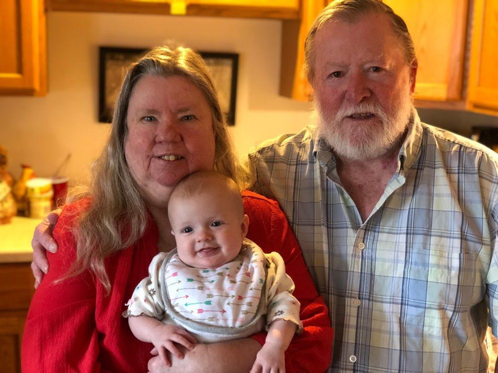 KJ with Grandma Leslie and Grandpa RJ