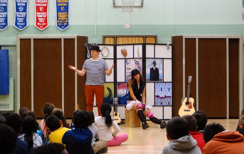 Richard Harte & Rochelle Bulmer in One Little Goat Theatre Company's PLAY: A (Mini) History of Theatre for Kids. Photo: One Little Goat.