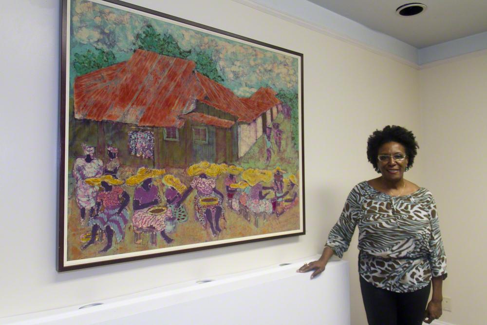 Artist Tina Dunkley.